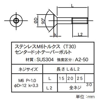 【CF POSH】不鏽鋼M6 星型(T30)中心凸點錐面螺絲 - 「Webike-摩托百貨」