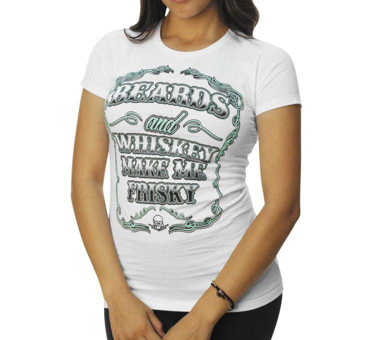 【Outlaw Threadz】BeArds And Whiskey 女用T恤 - 「Webike-摩托百貨」
