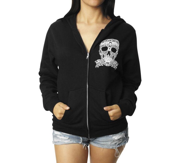 【Outlaw Threadz】Moto Skull  女用連帽外套 [520396] - 「Webike-摩托百貨」