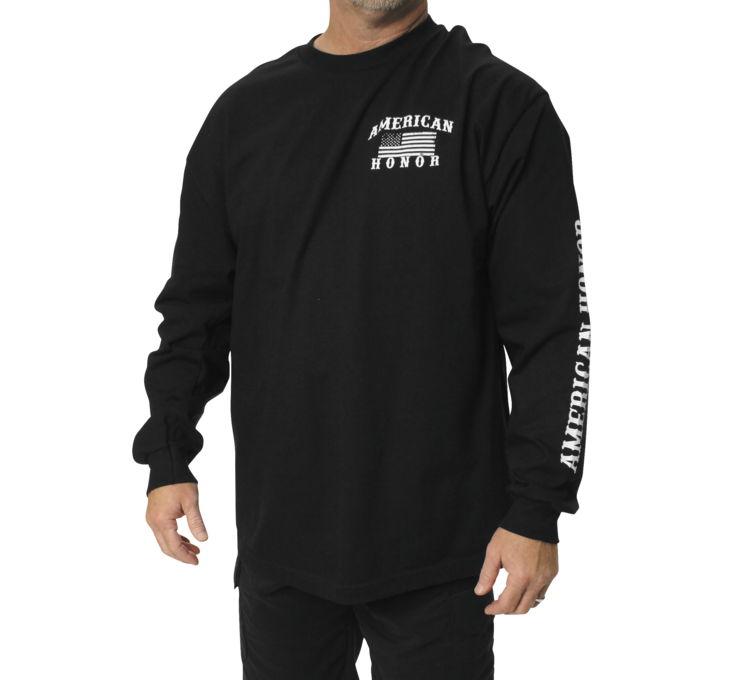 【Outlaw Threadz】AmericAn Honor 男用長袖T恤 - 「Webike-摩托百貨」