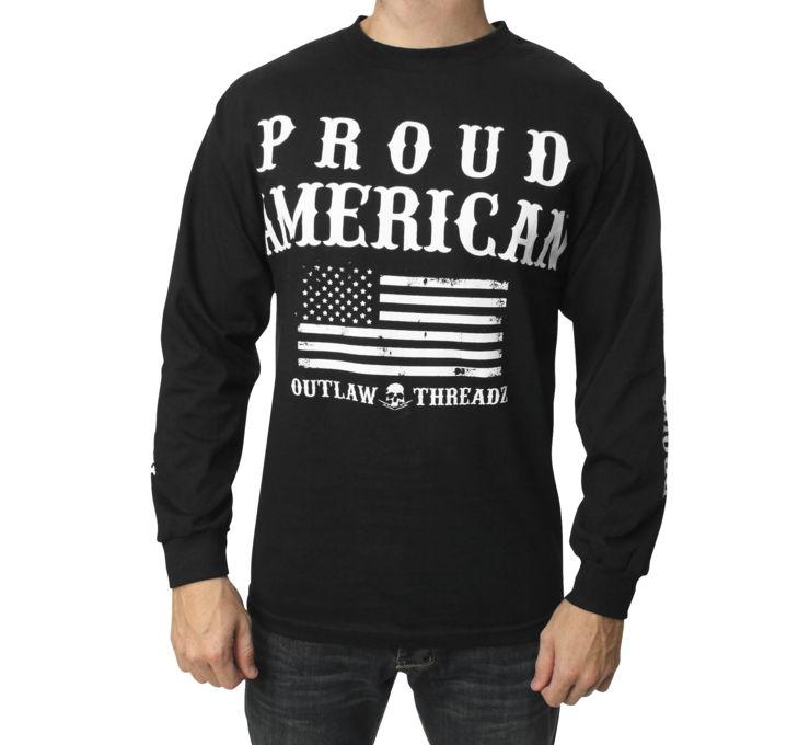 【Outlaw Threadz】Support 長袖男用T恤 - 「Webike-摩托百貨」