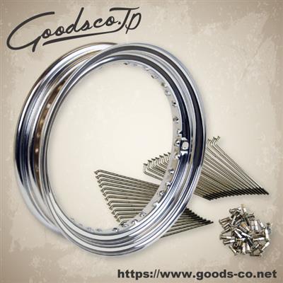【GOODS】16吋 鍍鉻鋼絲套件 - 「Webike-摩托百貨」