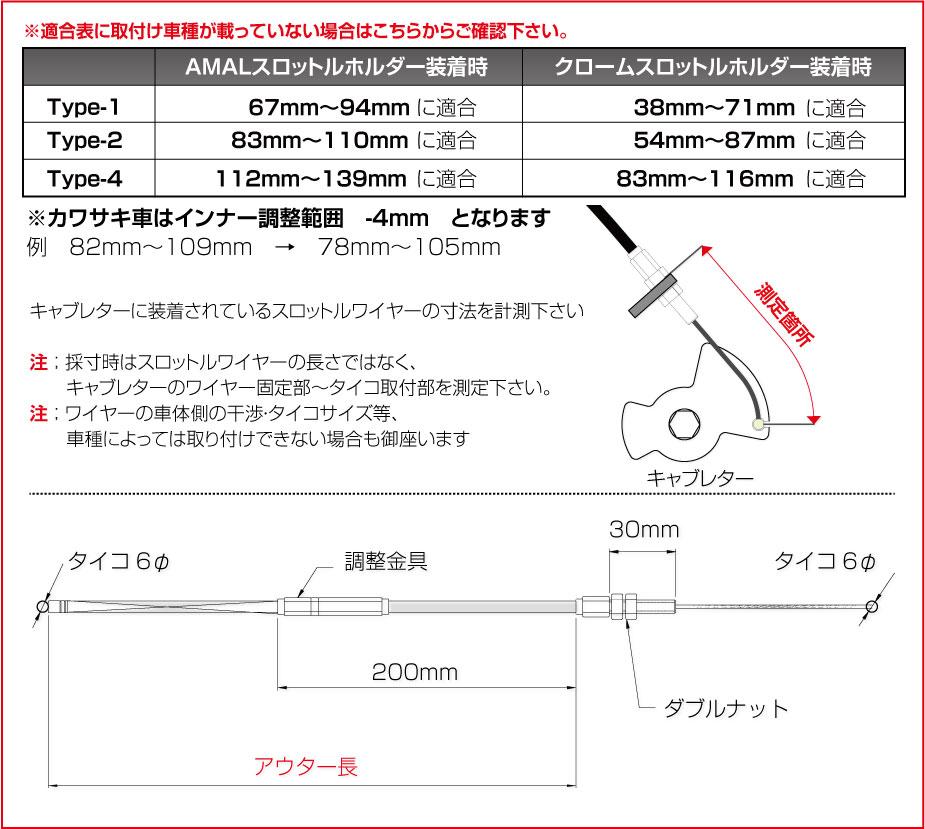 【GOODS】鍍鉻油門座用拉索 通用型 1100mm - 「Webike-摩托百貨」