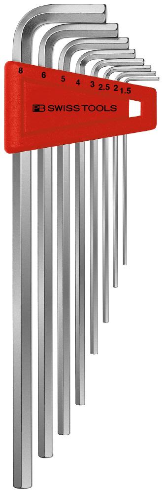 【PB】211H-8 六角棒板手組 附支架 長(無包裝) - 「Webike-摩托百貨」