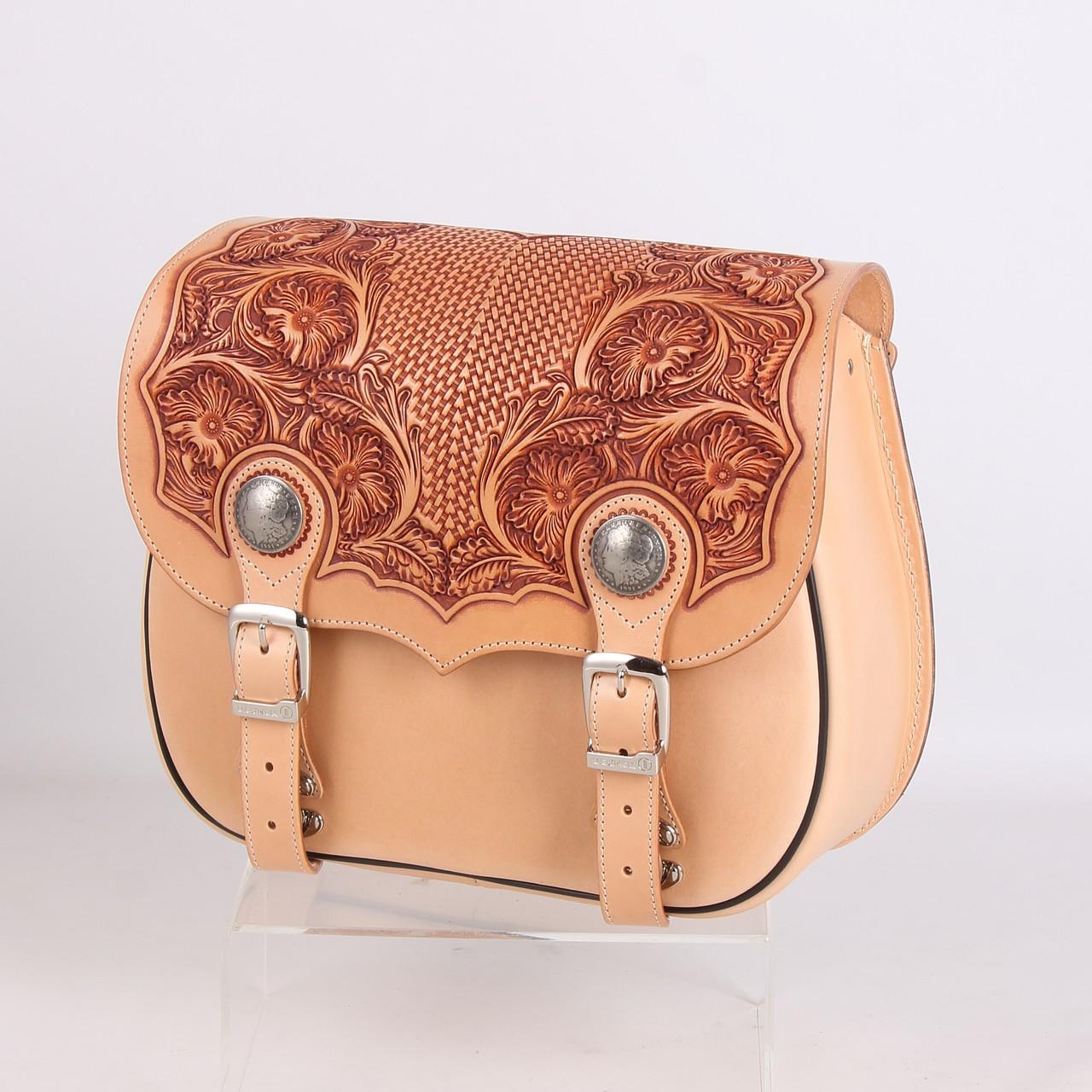 【DEGNER】皮革雕花馬鞍包 - 「Webike-摩托百貨」
