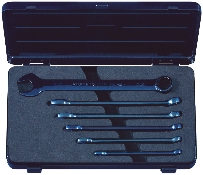 Combination Wrench Set Iron Blue [1 Set of 6pcs.]