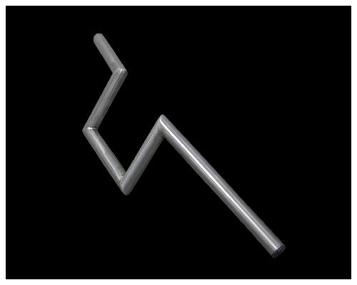 Neofactory ネオファクトリー:ヘコミ無し 6インチ ナローZバーハンドル 未塗装