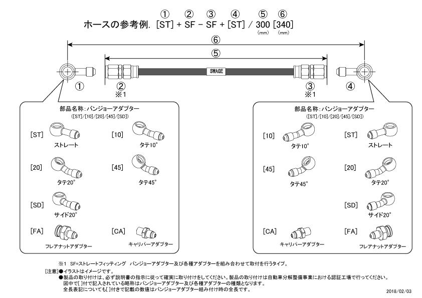 【SWAGE-LINE】Scan Wedge Line 離合器油管套件 - 「Webike-摩托百貨」