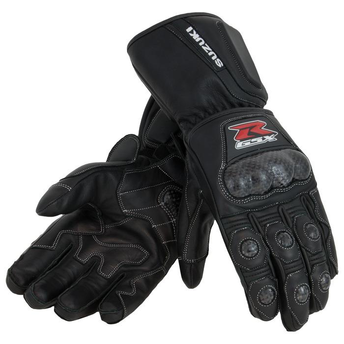 US SUZUKI 北米スズキ純正アクセサリー:GSX-R Leather Gauntlet Gloves, Black