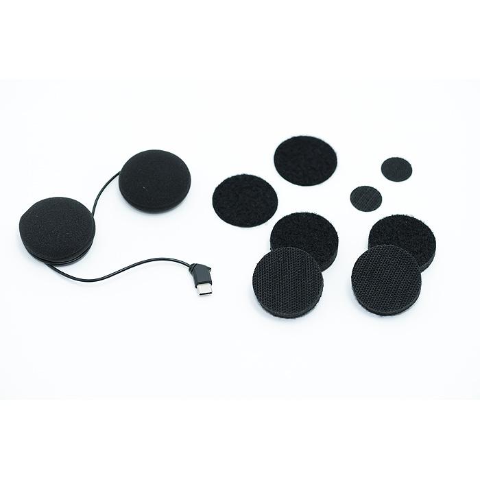Helmet Speaker Set X 6 USB Type-C 4-Way Stereo Plug for B+COM SB6