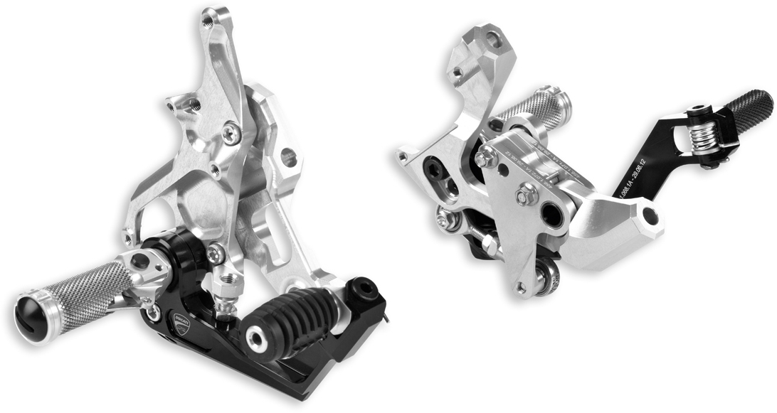 【DUCATI performance】鋁合金切削加工可調式腳踏套件 - 「Webike-摩托百貨」