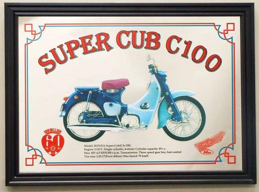 【HONDA RIDING GEAR】Super Cub C100 裝飾框 - 「Webike-摩托百貨」