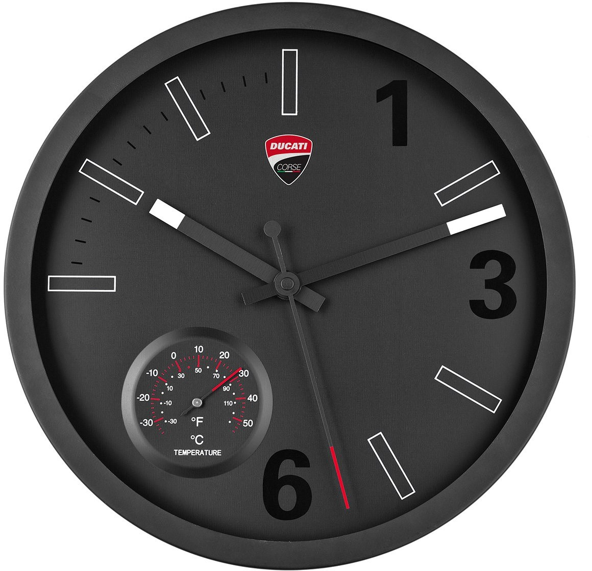 【DUCATI performance】Ducati Corse 掛牆時鐘(含溫度計) - 「Webike-摩托百貨」