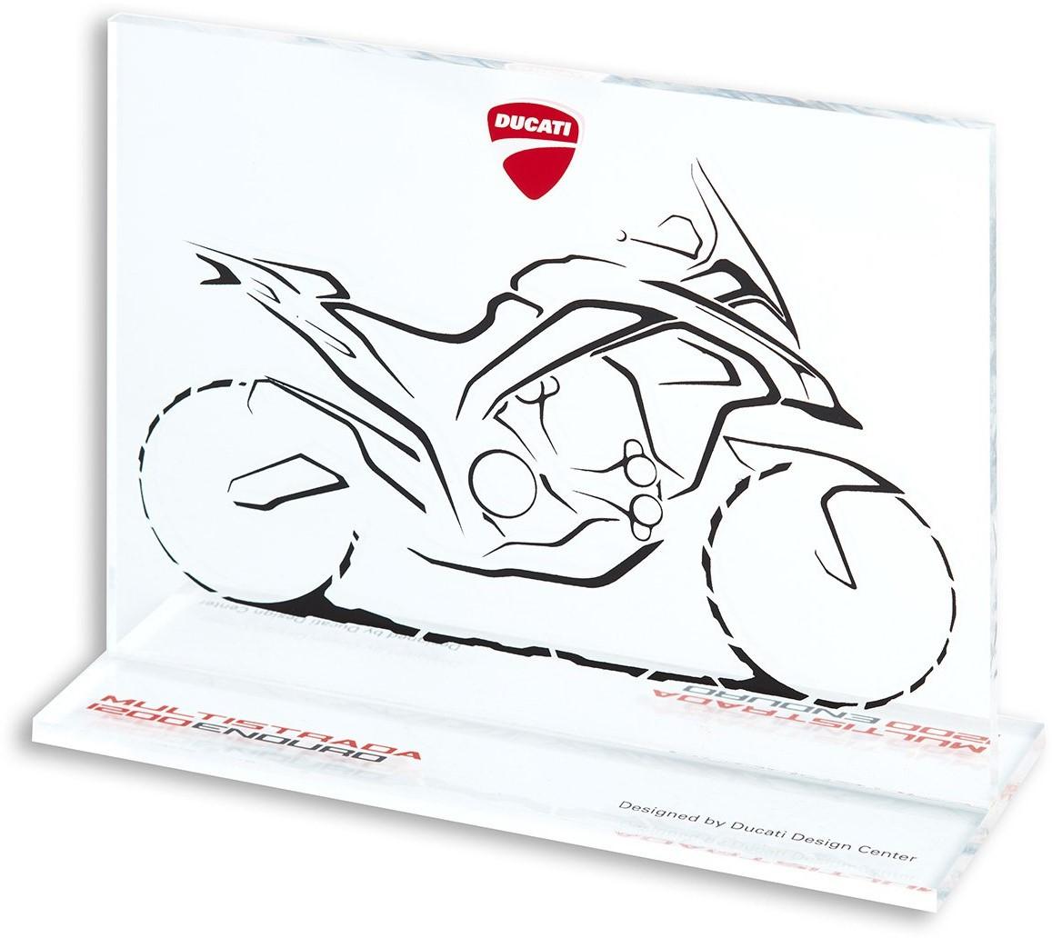 【DUCATI performance】Sketch Multistrada耐力賽玻璃紀念品 - 「Webike-摩托百貨」