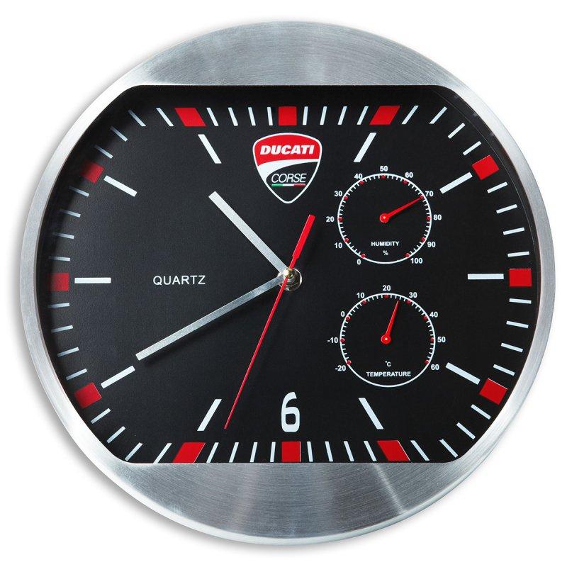 【DUCATI performance】Ducati Corse 掛牆時鐘 - 「Webike-摩托百貨」