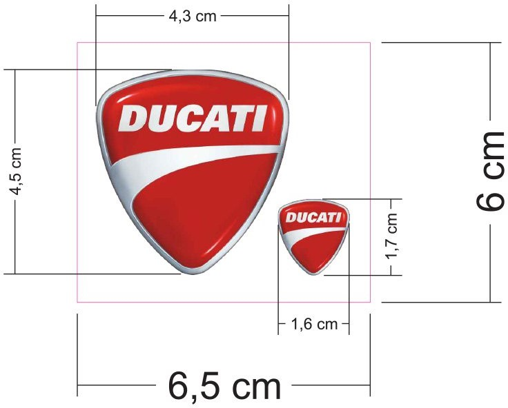 【DUCATI performance】Ducati 貼紙 - 「Webike-摩托百貨」