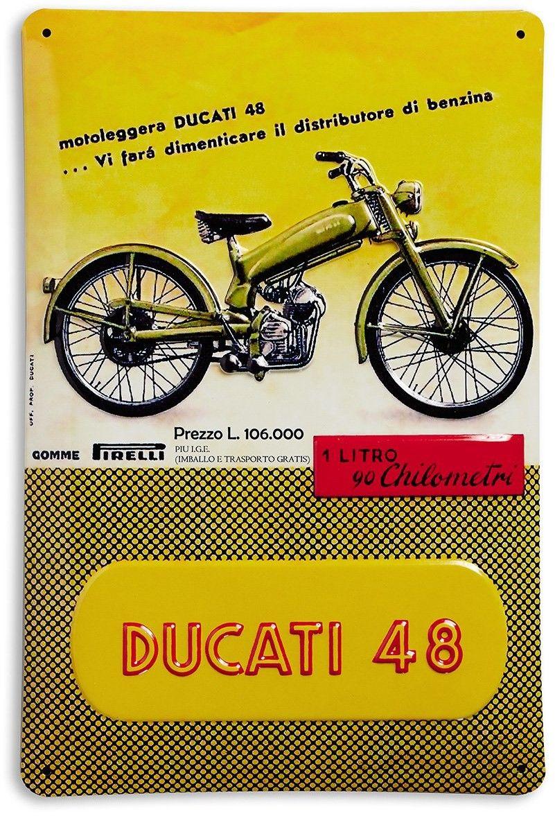 【DUCATI performance】Ducati 48 金屬裝飾板 - 「Webike-摩托百貨」