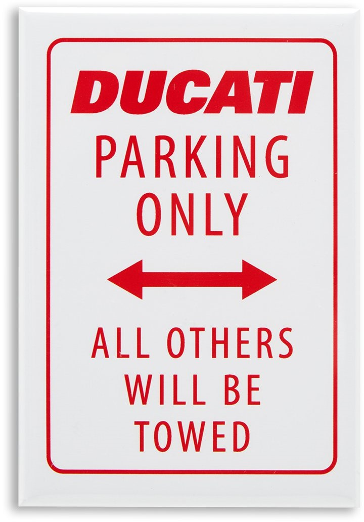 【DUCATI performance】Ducati Parking 磁鐵 - 「Webike-摩托百貨」