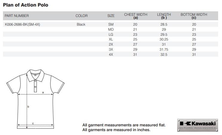 【US KAWASAKI】Plan Of Action   Polo衫衫 - 「Webike-摩托百貨」