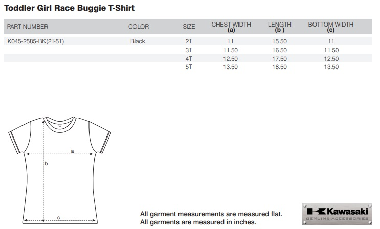 【US KAWASAKI】女幼兒 Race Buggie T恤 - 「Webike-摩托百貨」