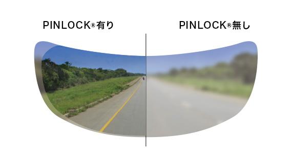 CWR-1シールド用PINLOCK(R) EVO lensの視界