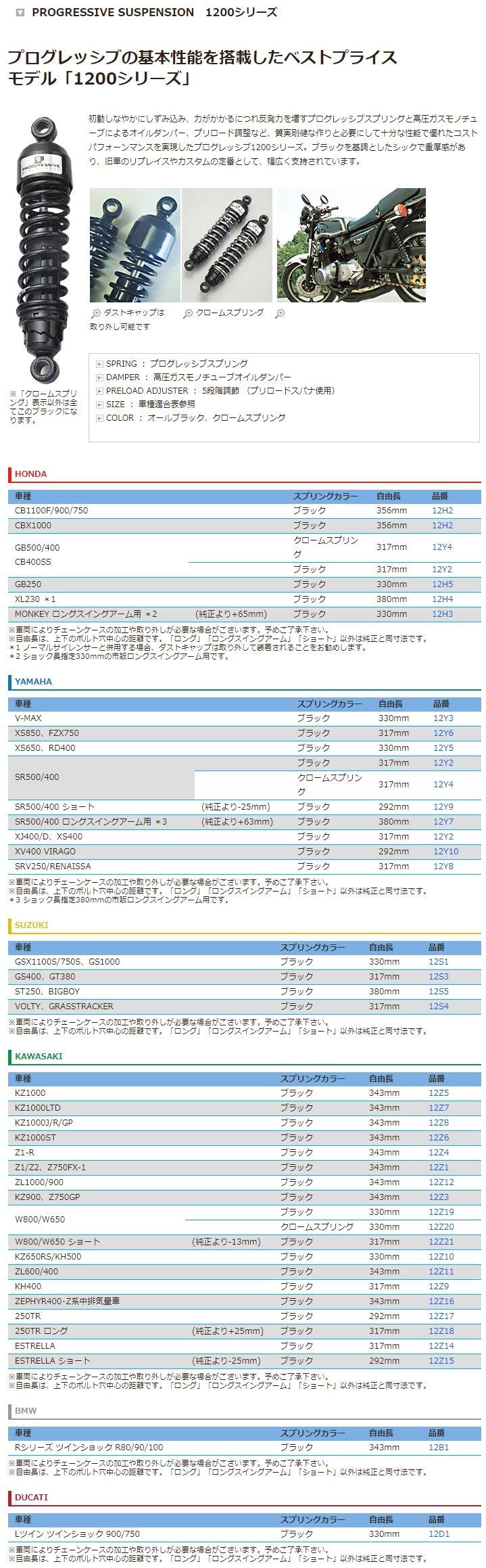 【PROGRESSIVE】Progressive 1200系列 後避震器 - 「Webike-摩托百貨」