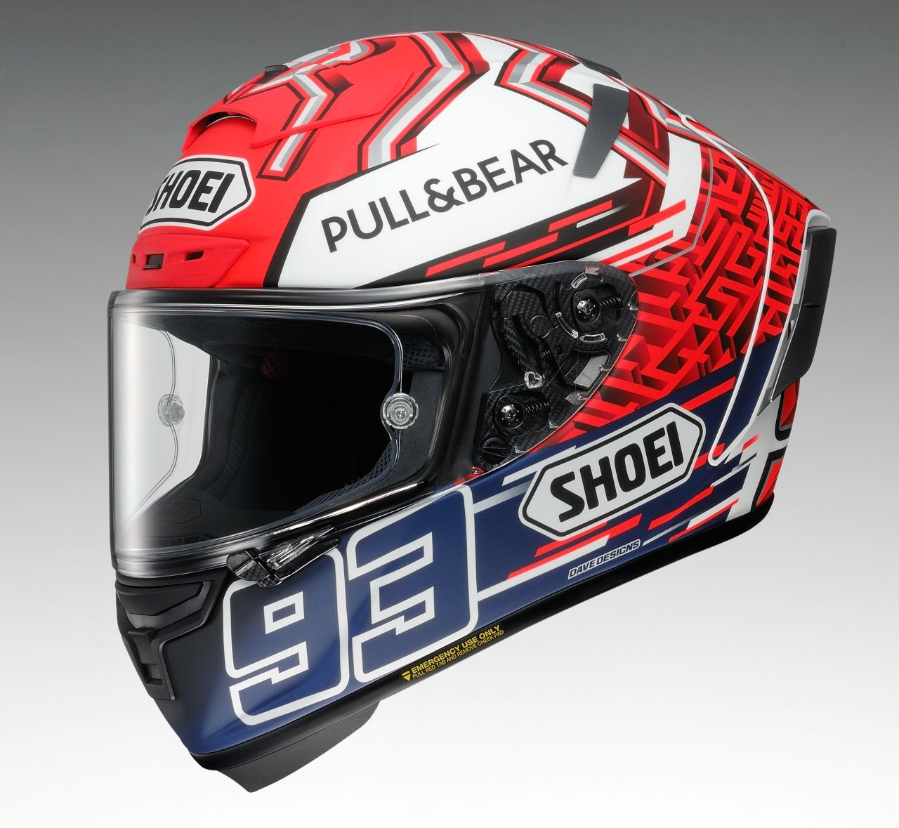 X-14 MARQUEZ5 [TC-1 RED/WHITE] Helmet