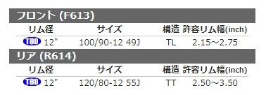 SHINKO シンコーSR613 【100/90-12 49J TL】 タイヤ