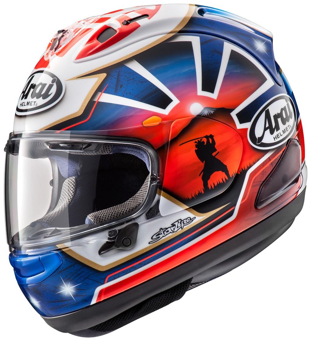 RX-7X PEDROSA SAMURAI SPIRIT BLUE Helmet