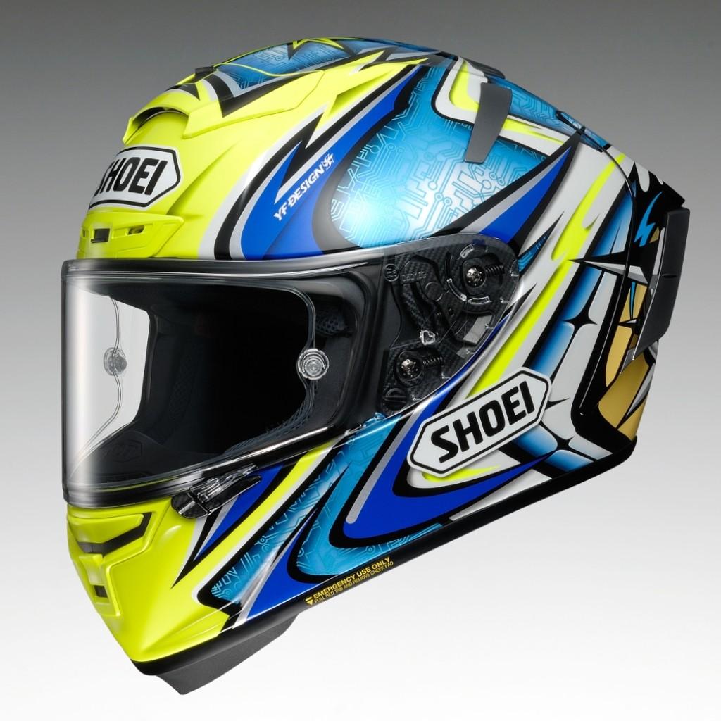 X-14 DAIJIRO [TC-3 YELLOW/BLUE] Helmet