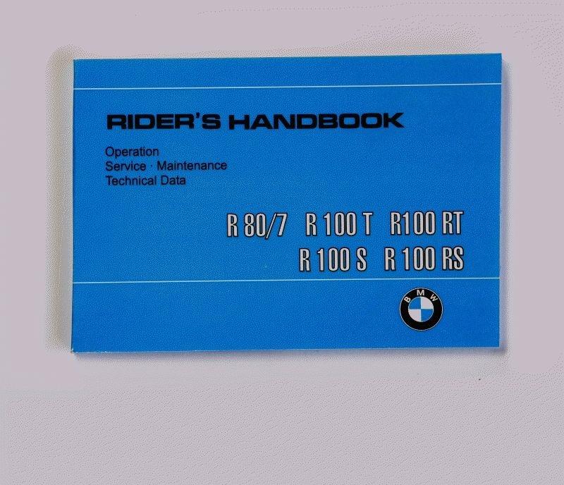 SIEBENROCK ジーベンロックライダーズハンドブック BMW R 80RT R 100 R 100CS R 100RS R 100RT 9/1980 - 9/1984用 英語バージョン