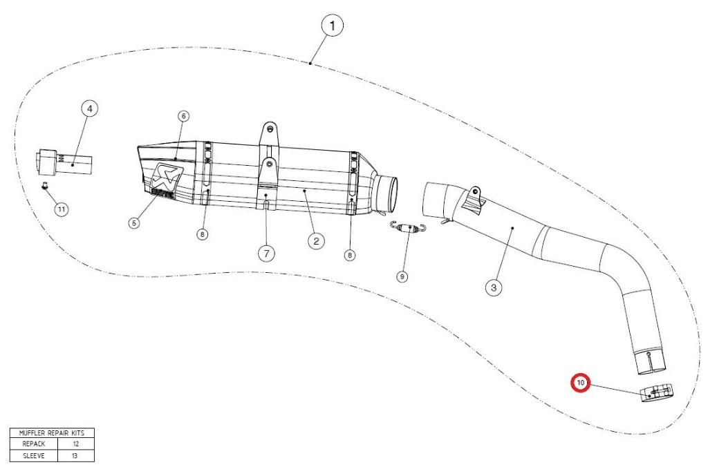 【リペアパーツ】P-R12/1 clamp SS