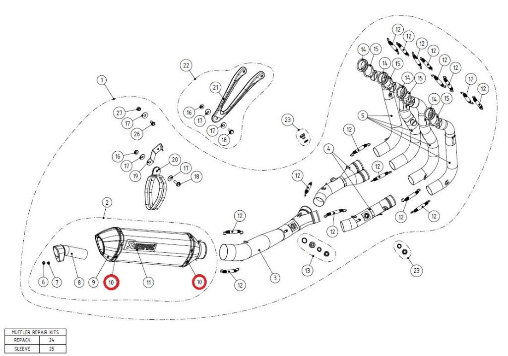 【リペアパーツ】P-TT52 belt ti for SS sleeve