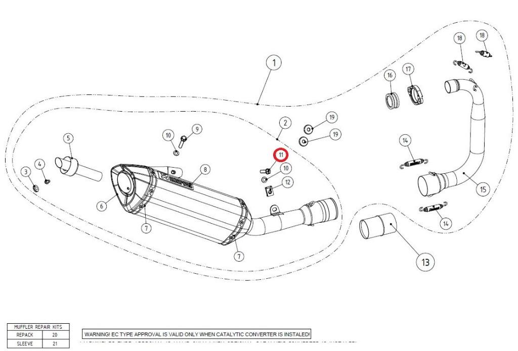 【リペアパーツ】P-FB45 bolt