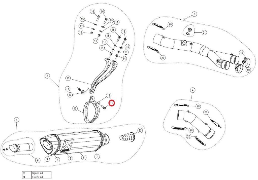 【リペアパーツ】P-FB18 bolt