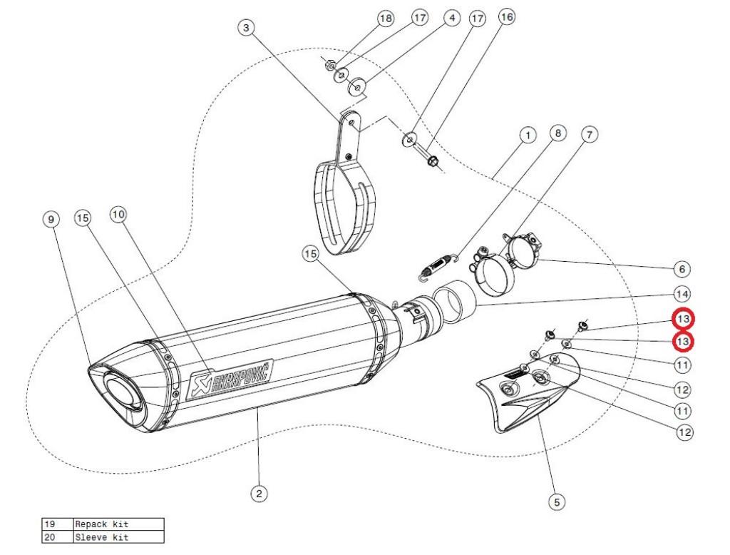 【リペアパーツ】P-FB33 bolt
