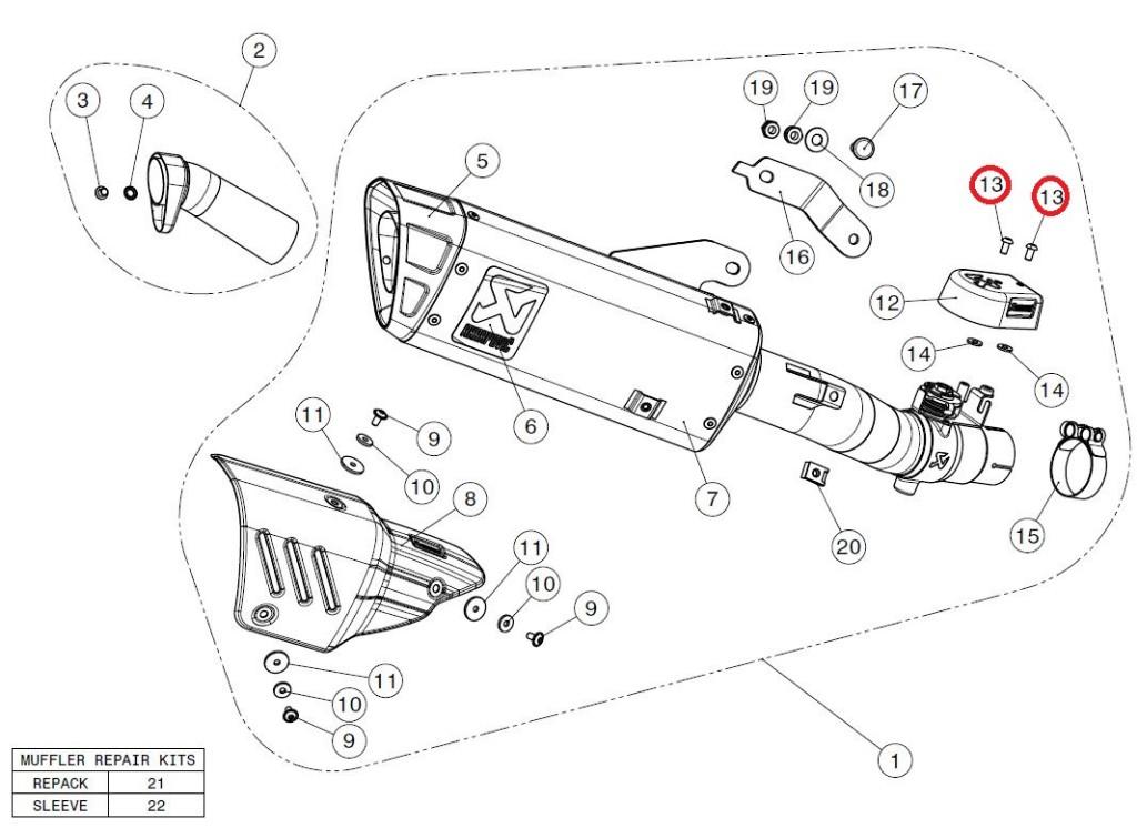 【リペアパーツ】P-FB74 screw