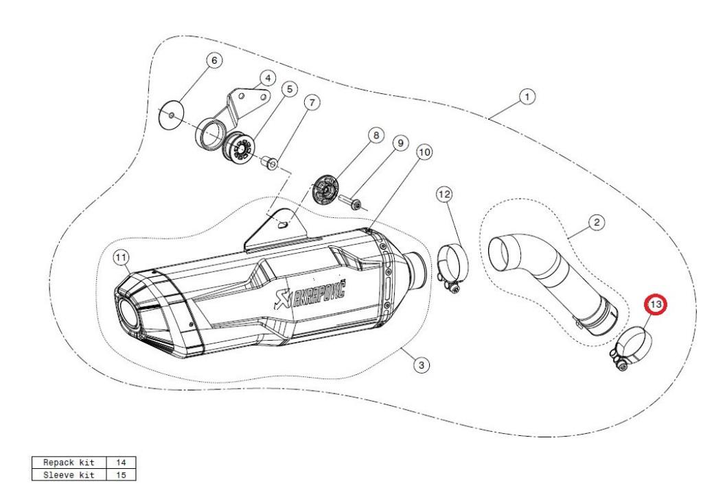 【リペアパーツ】P-R60 clamp SS