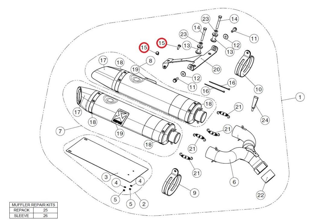 【リペアパーツ】P-FB43 bolt