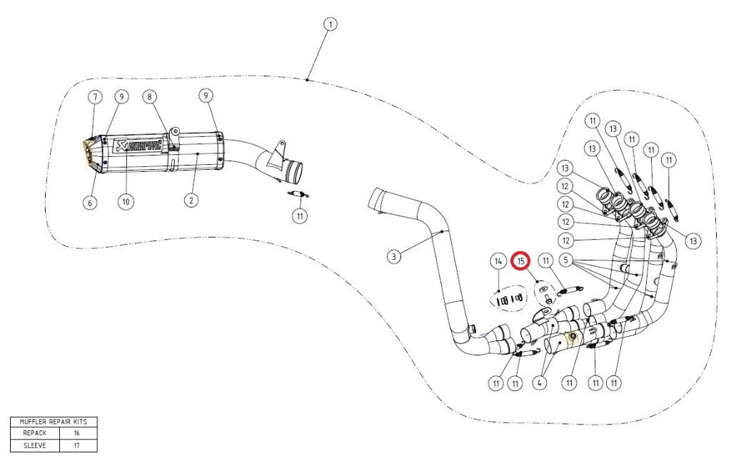 【リペアパーツ】P-HF263 fitting kit