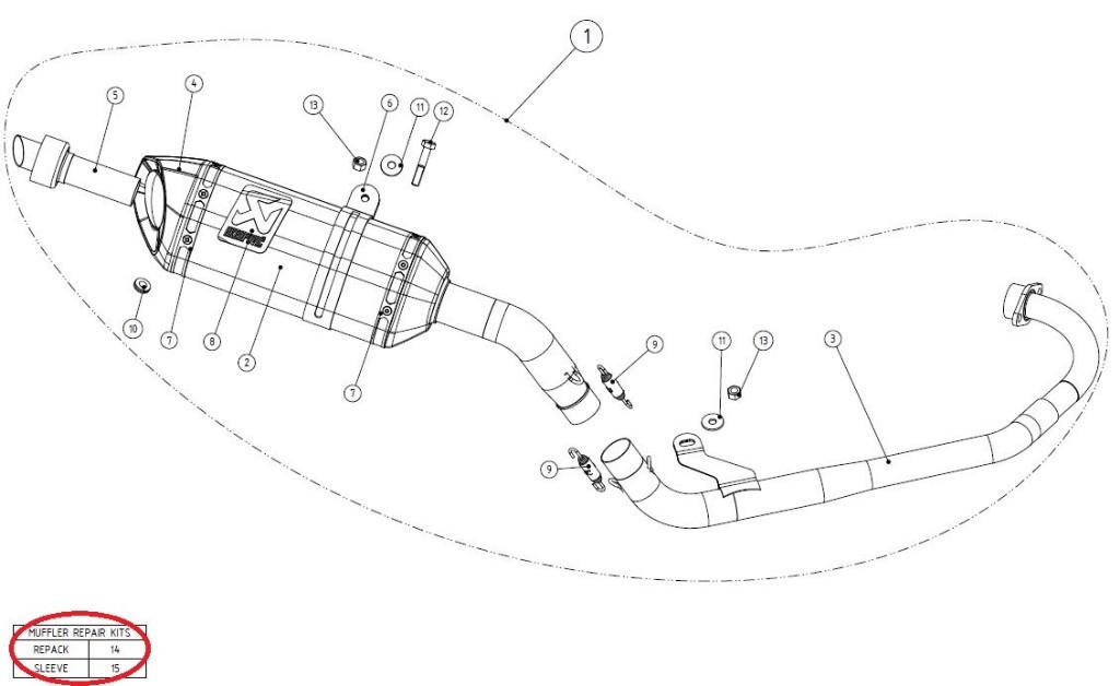 【リペアパーツ】P-RKS224ZC32 muffler sleeve kit