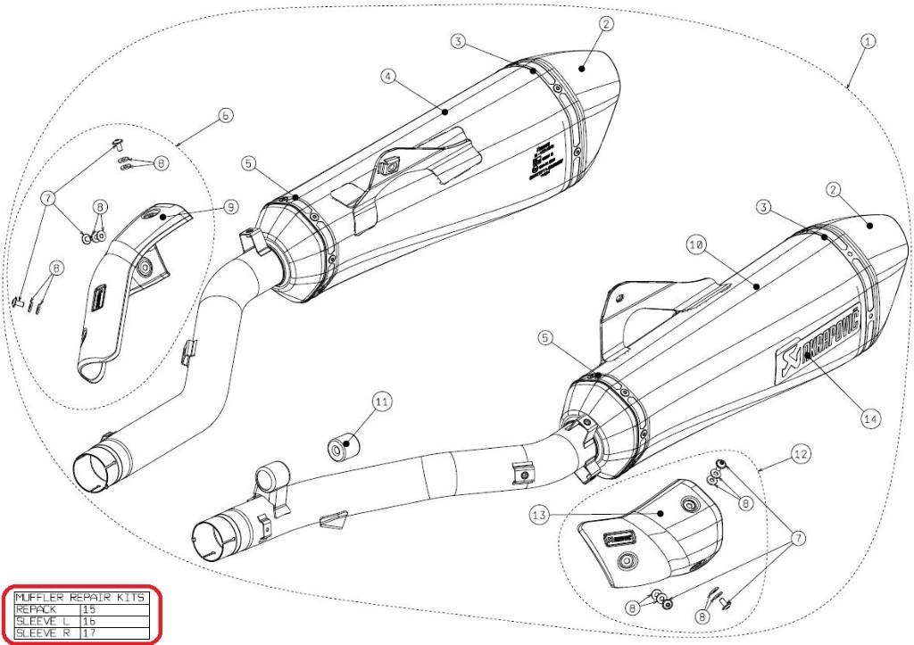 【リペアパーツ】P-RPCK54 muffler repack kit