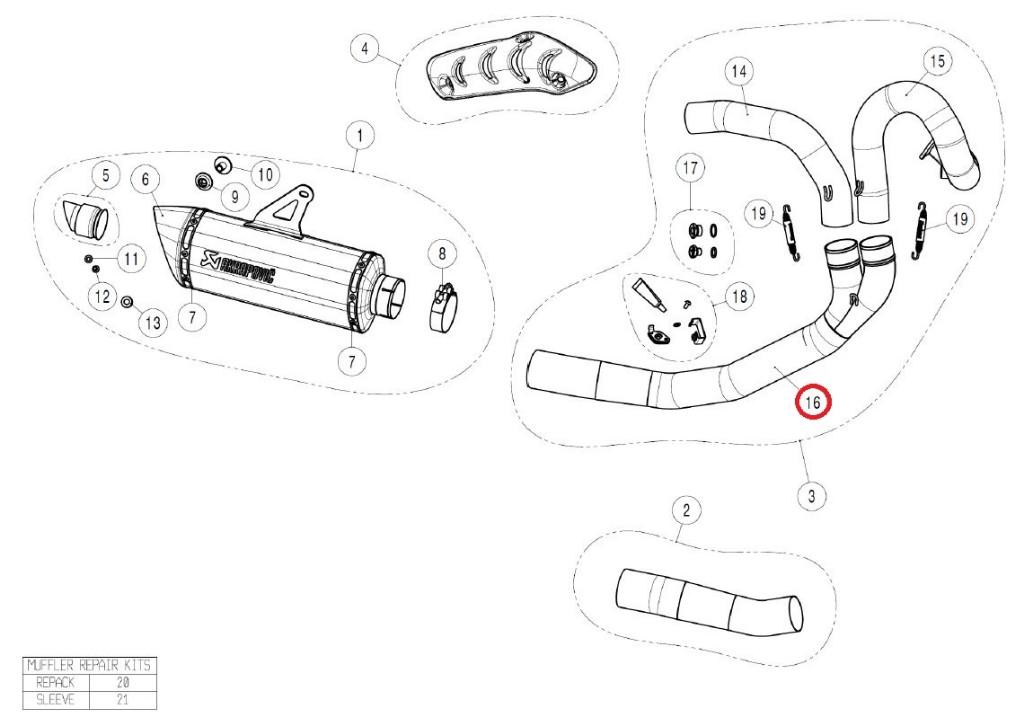 【リペアパーツ】L-D12E2 link pipe