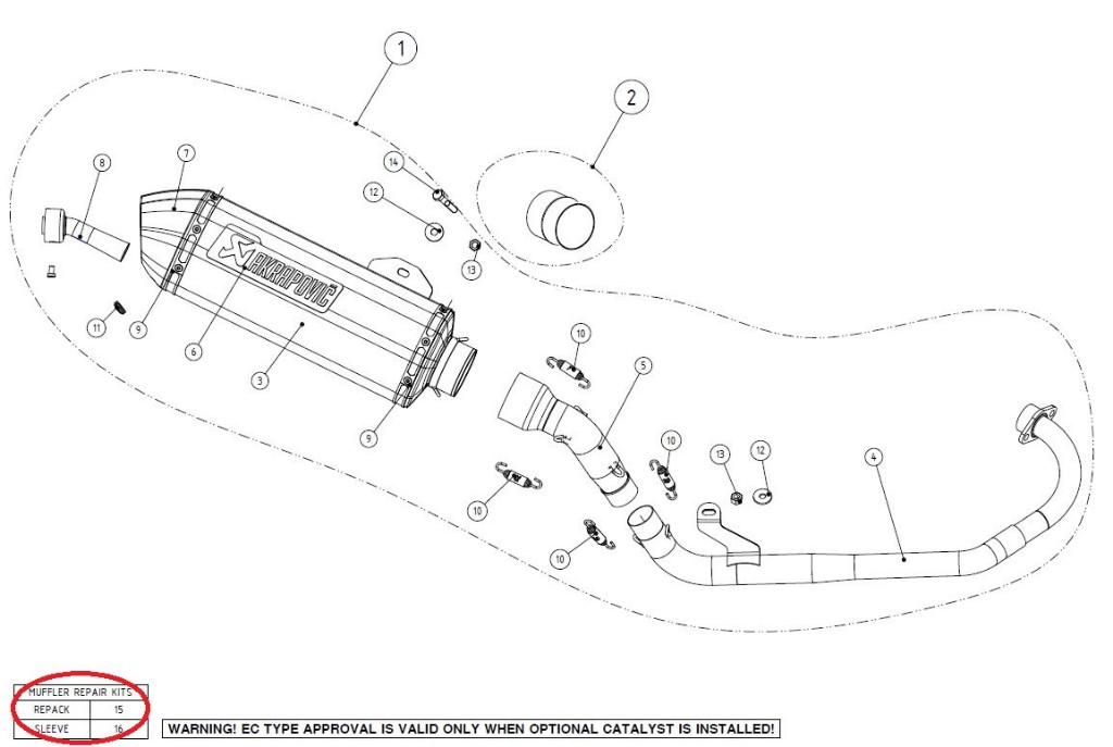 【リペアパーツ】P-RKS300RSS35/2 muffler sleeve kit