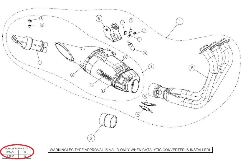 【リペアパーツ】P-RKS397AF195/2 muffler sleeve kit