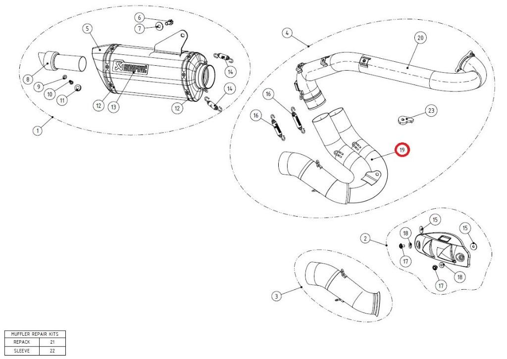 【リペアパーツ】L-D8E1 link pipe ti