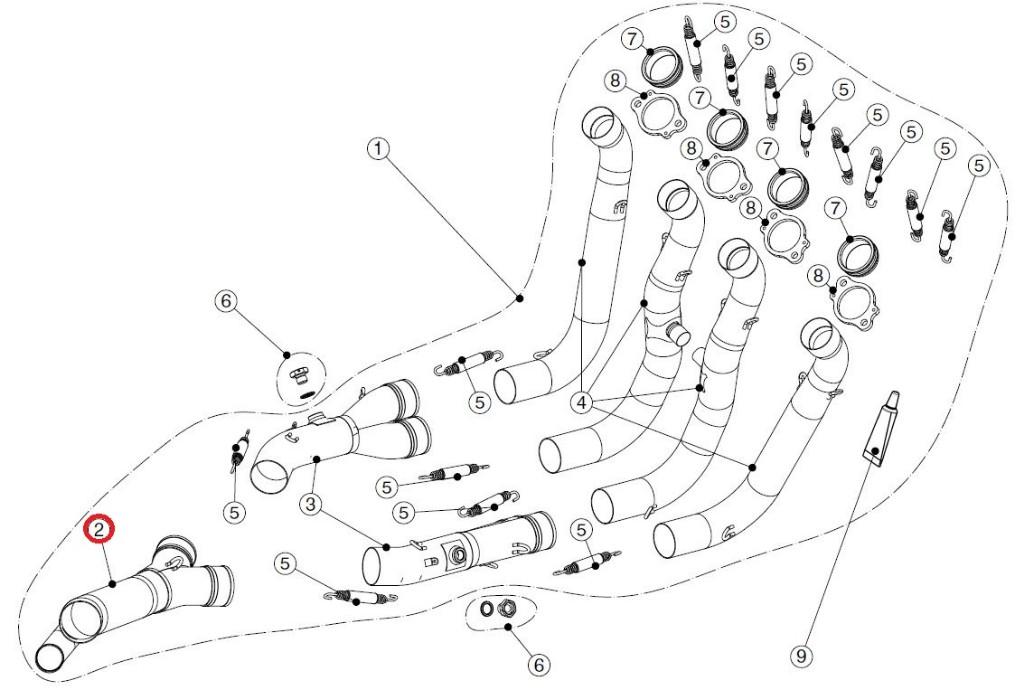 【リペアパーツ】L-B12E6 link pipe ti
