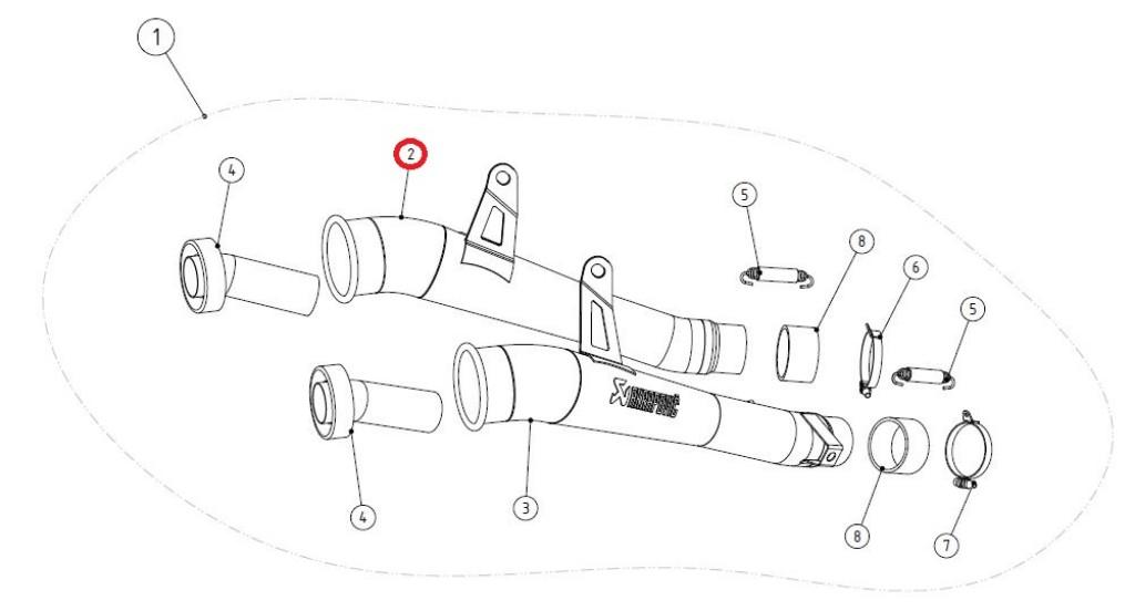 【リペアパーツ】LM-K10SO2TL link pipe ti left
