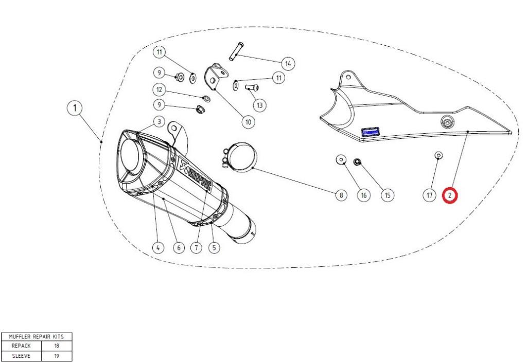 【リペアパーツ】P-HSS10E1 heat shield ca