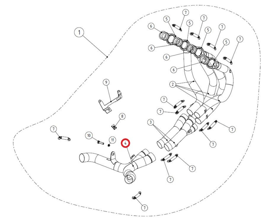 【リペアパーツ】L-K10R8 link pipe SS